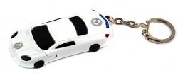 Зажигалка брелок Автомобиль белая