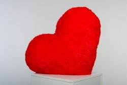 Подушка-сердце 30 см - красная
