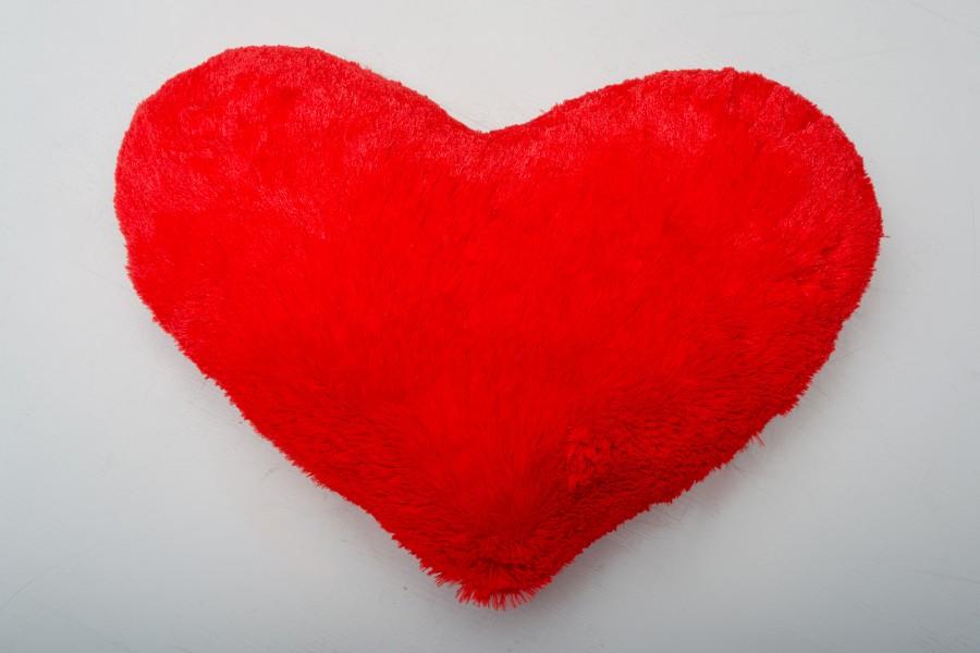 Подушка-сердце 50 см - красная