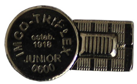 Бензиновая зажигалка IMCO 6600Р Junior Oil chrome nickel IMCO-Schriftzug