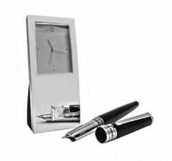 Набор ручка перьевая и настольные часы Pierre Cardin (PR2606)