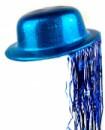 Шляпа Котелок Пластик с дождиком синяя