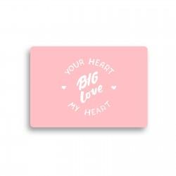 """Открытка с конвертом """"Big love"""""""