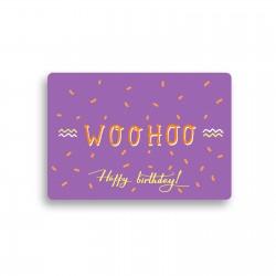 """Открытка с конвертом """"Happy birthday"""""""