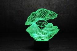 3D-светильник Ракушка 2