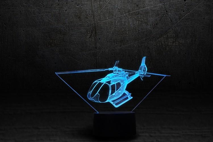3D-светильник Вертолет 2