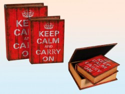 "Сейф-книга ""Keep calm and Carry on""(26 см)"