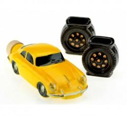Коньячный набор авто мини классик желтый, 3 предмета