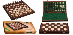 Шахматы Junior средние, коричневые