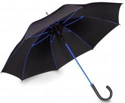 Зонт-трость Doppler Fiberglas 740763WBL полуавтомат черно-синий