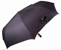 Зонт складной Doppler 743067-1 полный автомат Черный в серую полоску