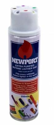 Газ для заправки зажигалок высокой очистки Newport