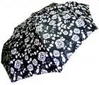 Зонт складной Doppler 74665GFGC-1 полный автомат Черно-белый (роза)