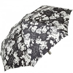 Зонт складной Doppler 74665GFGGZ-4 полный автомат Черный с цветами
