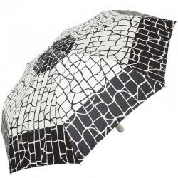 Зонт складной Doppler 74665GFGGZ-6 полный автомат Черный с квадратами