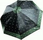 Зонт складной Doppler 74665GFGMAU-3 полный автомат черно-зеленый
