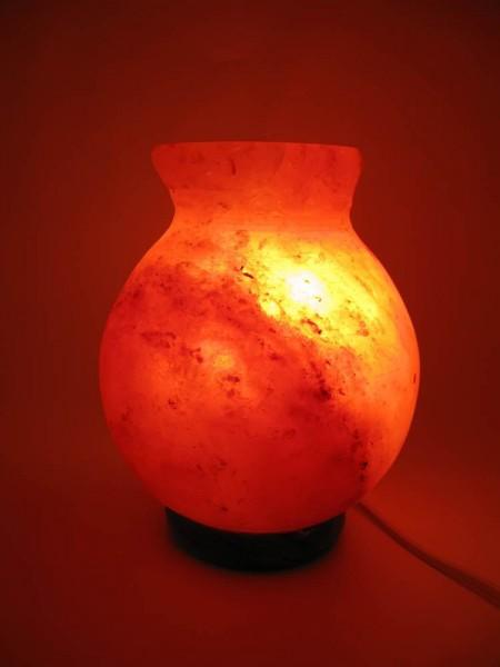 Соляная лампа (SL-32) Ваза 2,1кг. (d-12,h-17 см) (Гималайская соль)