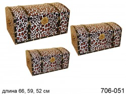 Набор коробок Леопард, 3 шт