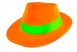 Шляпа Мужская пластик флок оранжевая