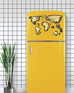 Магнитная скретч карта мира Travel Map MAGNETIC World, англ