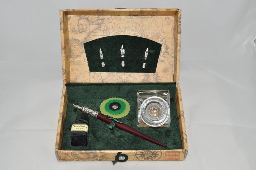 Письменный набор Bx43, зеленый