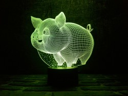3D-светильник Свинка
