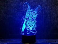 3D-светильник Бульдог 2