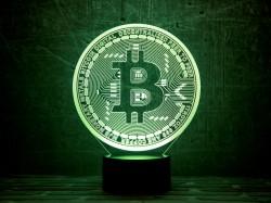3D-светильник Bitcoin