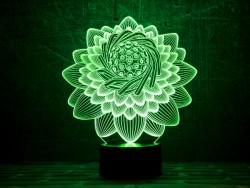 3D-светильник Лотос 2
