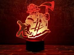 3D светильник Пожарный