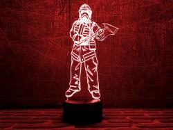 3D светильник Пожарный 3