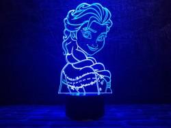 3D светильник Холодное Сердце 2