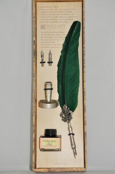 Письменный Набор Зеленый Бархат Piu33