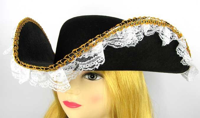 Шляпа Пиратки с кружевом