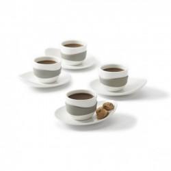 Набор чашек для эспрессо Leaf PO Selected Серый
