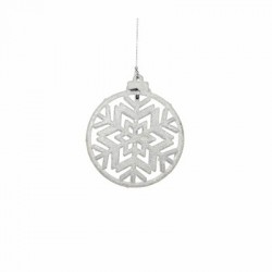 Украшение декоративная Снежинка симметричная Christmas House, цвет белый