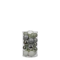 Елочные шарики House of Seasons комплект 23 шт, цвет: микс оттенки серого