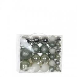 Елочные шарики House of Seasons набор из 46 шт, цвет: оттенки серого