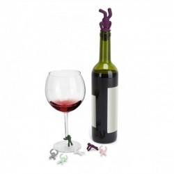 Набор маркеров для бокалов и стоппер для бутылок Drinking Buddy Umbra