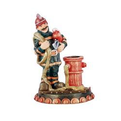 Статуэтка Пожарник – карандашница 24 см