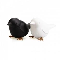 Шейкеры для соли и перца Sparrow Salt&Pepper Qualy Черный / Белый