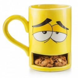 Чашка с отделением для печенья Monster Cookie Cup Donkey Желтая
