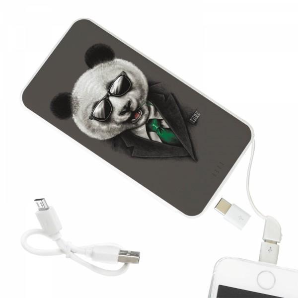 Портативная батарея. Повербанк 10000mah Панда в пиджаке