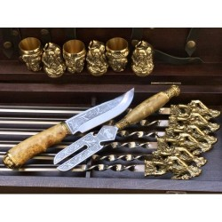 Козаки Эксклюзивный набор для шашлыка. Шампура+рюмки