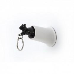 Ключница настенная и брелок для ключей Squirrel Qualy Белый / Черный