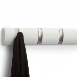Настенная вешалка 5 Flip Umbra Белая