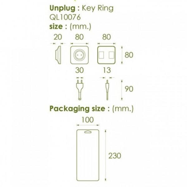 Ключница настенная и брелок для ключей Unplug Qualy Белый / Белый