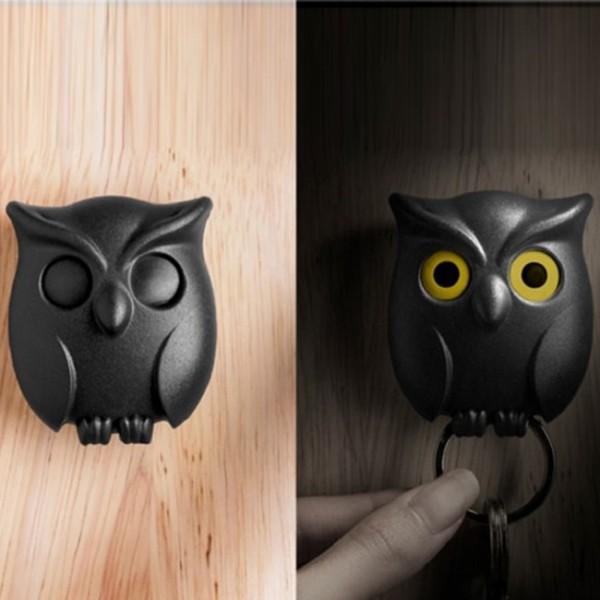 Ключница настенная Night Owl Qualy Черная