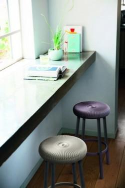 Стул пластиковый COZY BAR STOOL, дымчато-пурпурный