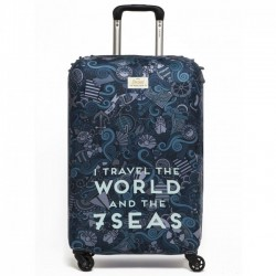 Чехол для чемодана I Travel the World Rocket Design